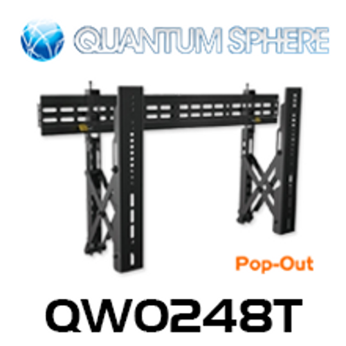 "Quantum Sphere QW0248T 40""-70"" Commercial Video Pop-Out Flat Display Wall Mount (Landscape)"