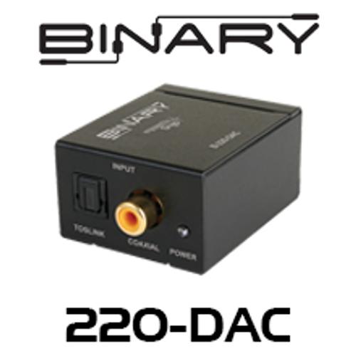 Binary Digital to Analog Audio Converter