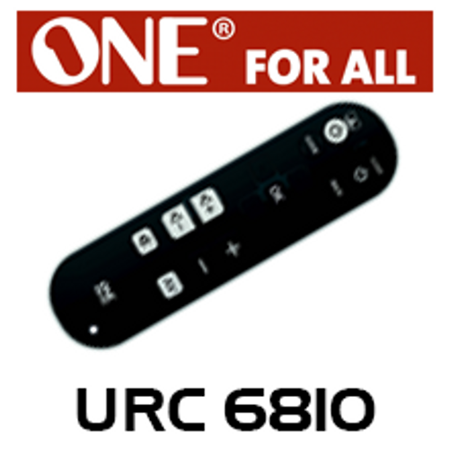 One For All URC6810 TV Zapper Basic 3 Devices Universal Remote Control