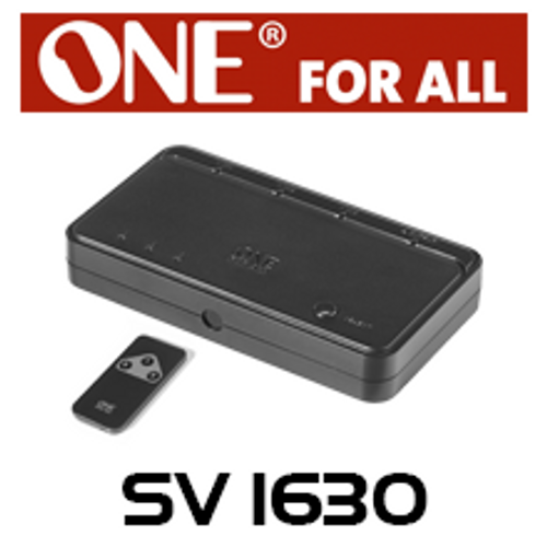 One For All SV1630 3-Way Smart HDMI Switch with Remote Control