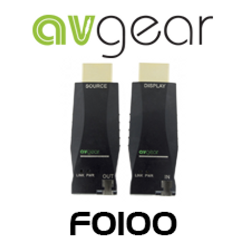 AVGear AVG-FO100 HDMI Mini Optical Fibre Extender Pair - 4K Supported
