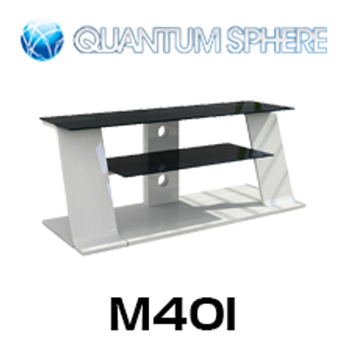 Quantum Sphere M401 Classic Curved Wood & Glass TV Stand