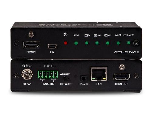 Atlona 4K UHD HDMI Multi-Channel Digital to Two-Channel Balanced Analog Audio Converter