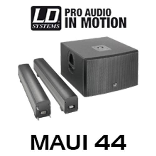 "LD Systems MAUI44 Dual 12"" 1600W Column PA System w/ LECC DSP"