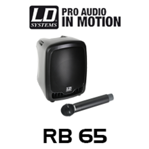 """LD Systems RB65B6 RoadBoy 6.5"""" Battery Powered Portable PA Speaker"""