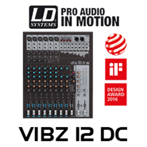 LD Systems VIBZ12DC 12-Ch Mixing Console With DFX And Compressor