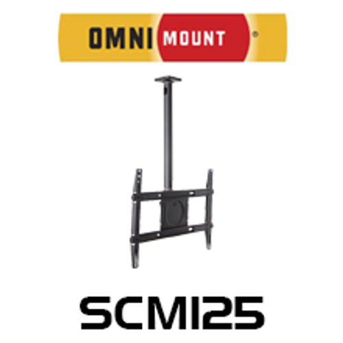 "OmniMount SCM125 32-65"" TVs Tilt Commercial Ceiling Mount"
