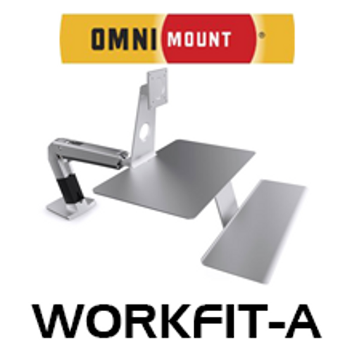 """OmniMount WorkFit-A Sit/Stand Desk Mount For Apple Monitor (Up to 27"""")"""