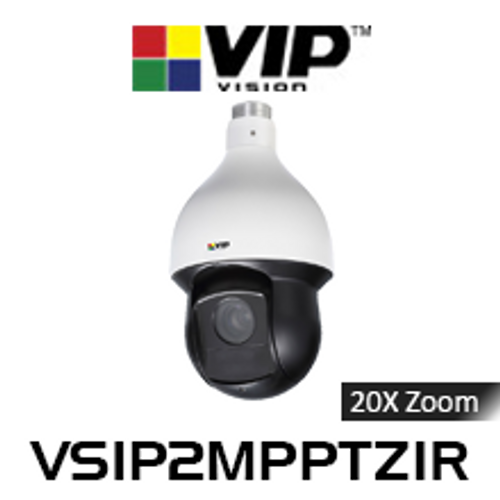 VIP Vision 2.0MP IP66 Infrared 20x Zoom PTZ Dome IP Camera