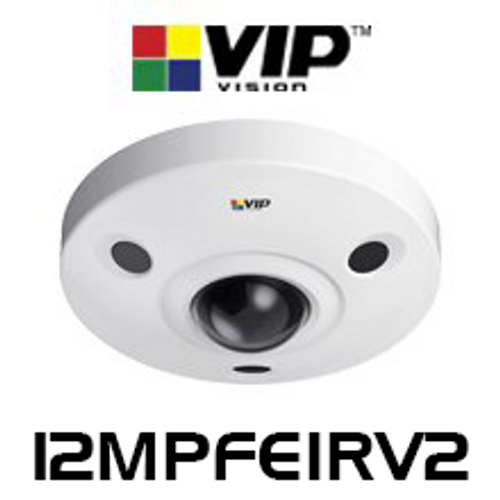 VIP Vision 12.0MP IP67 IK10 UHD Infrared 360° Fisheye Dome IP Camera