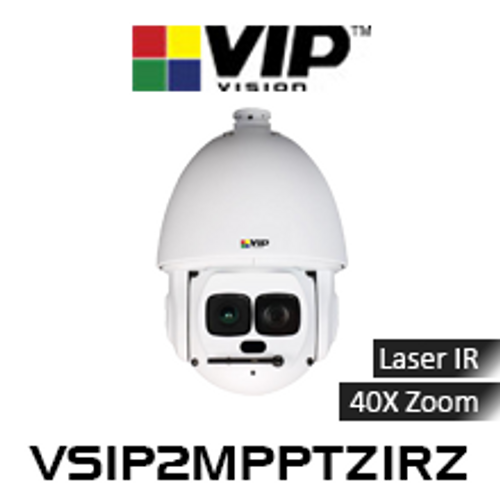 VIP Vision 2.0MP IP67 Laser IR 40x Zoom PTZ Dome IP Camera