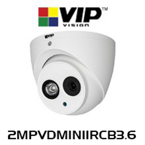VIP Vision Professional 2.0MP IP67 WDR Infrared Fixed Mini Dome IP Camera