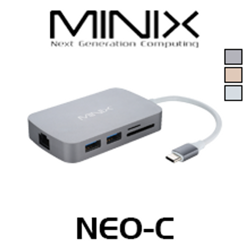 Minix NEO-C HDMI / VGA Output USB-C Multiport Adapter