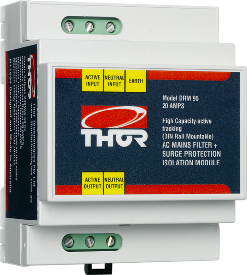 Thor DRM95 20Amp Hard Wired DIN Rail Mount Active Filter