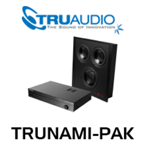 "TruAudio TRUNAMI-PAK Trunami 8"" In-Wall Subwoofer & Amplifier Package"