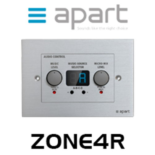 Apart ZONE4R Music Level & Source Select Wall Control For Zone4