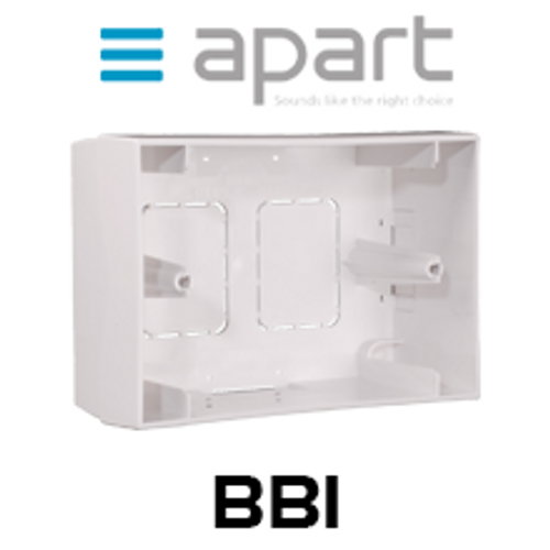Apart BB1 On-Wall Box for Remote Panel PM1122R / ZONE4R (Each)