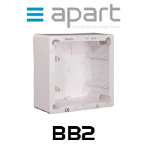 Apart BB2 On-Wall Box for Remote Panel PM1122RL (Each)