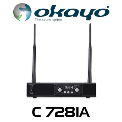 Okayo C7281A Dual Channel UHF Wireless Audio Link Receiver (520-544Mhz)