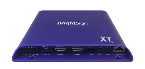 BrightSign XT1143 Expanded I/O 4K Interactive Digital Signage Media Player