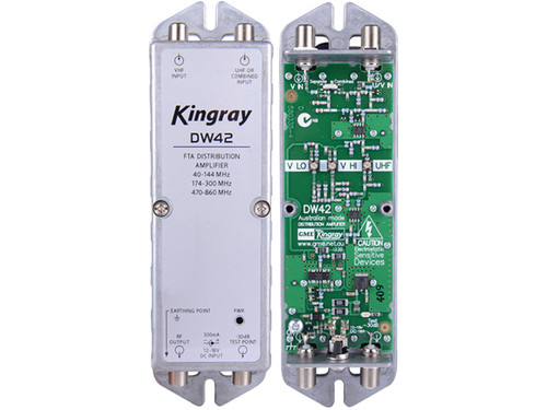 Kingray DW42 F Type MATV Distribution Amplifier (470-860MHz)