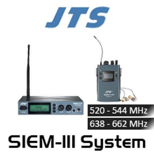JTS SIEM-111 Single Channel Wireless In-Ear Monitor Stereo System
