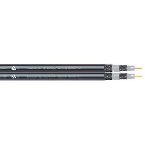 Jonsa RG6 75 Ohm Quad Siamese Twin Coaxial Cable (100m)