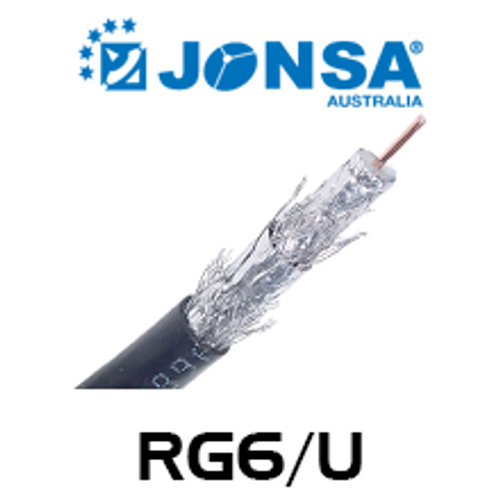 Jonsa RG6/U 75 Ohm Foxtel Approved Quad-Shield Coaxial Cable (305M)
