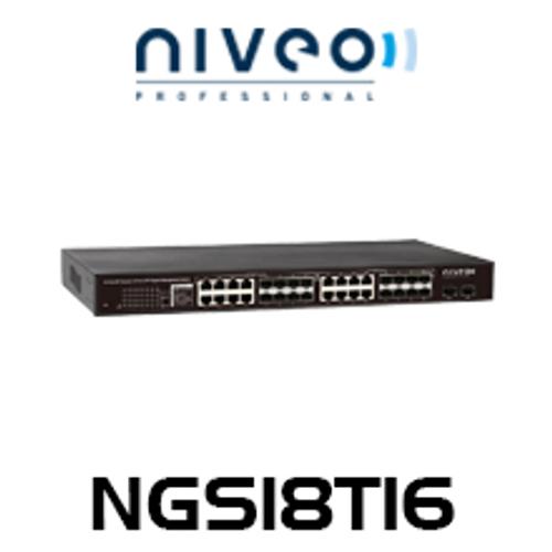 Niveo NGS18T16 16 Combo UTP/SFP Ports Gigabit Switch + 2 SFP Slots