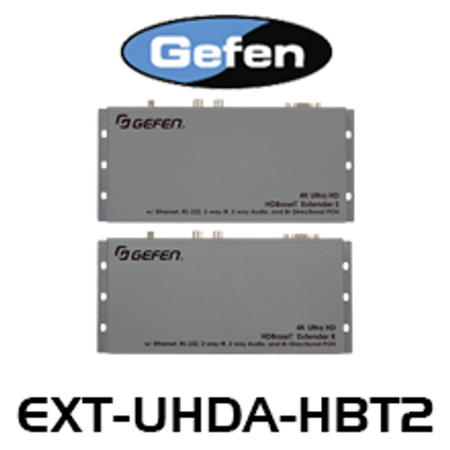 Gefen 4K Ultra HD HDBaseT Extender w/ Ethernet, RS-232, 2-way IR & Audio and Bi-Directional POH