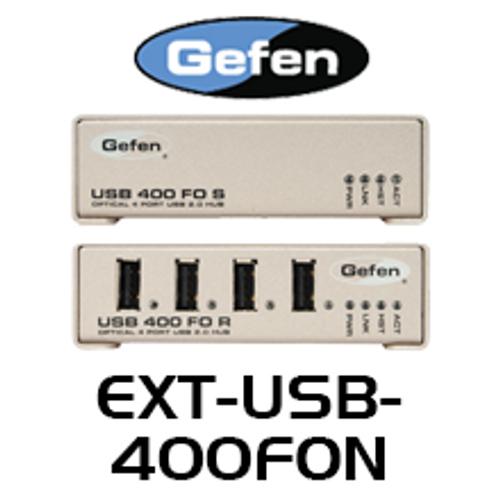 Gefen 4 Port USB 2.0 Hub Extender Over Fiber Optics Cable (Up to 500m)