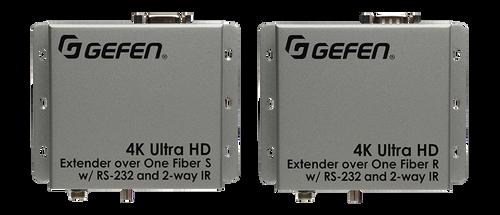 Gefen 4K UHD HDMI Extender Over Fiber w/ RS-232 & 2-Way IR (up to 2km)