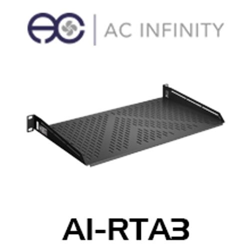 "AC Infinity 1RU 10"" Deep Vented Cantilever 19"" Rack Shelf"