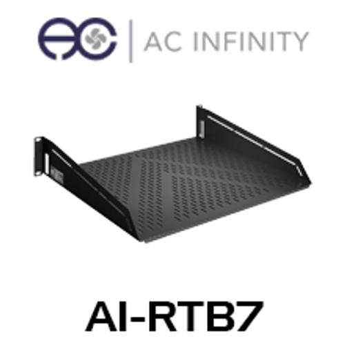 "AC Infinity 2RU 16"" Deep Vented Cantilever 19"" Rack Shelf"