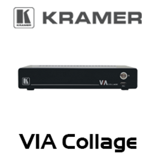 Kramer VIA Collage 6-Simultaneous 4K Wireless Presentation Collaboration Hub