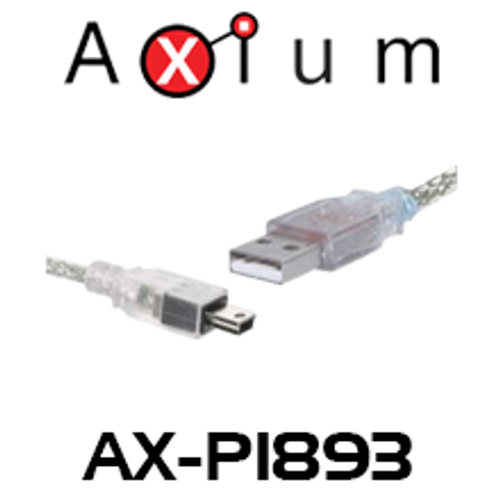 Axium AX-P1893 3m A Male to Mini Male USB 2.0 Patch Lead