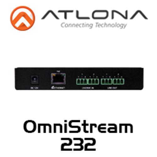 Atlona OmniStream Dual-Channel Dante Networked Audio Encoder/Decoder