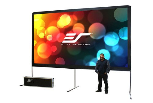 """Elite Screens Yard Master 16:9 Portable Outdoor Projection Screens (150 - 200"""")"""