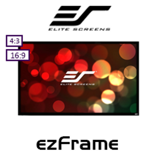 "Elite Screens ezFrame CineWhite / CineGrey Fixed Frame Projection Screens (84-135"")"