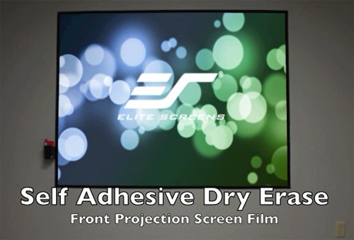 """Elite Screens Insta-DE2A Self-Adhesive Dry-Erase Soft Pad WhiteBoard Projection Screens (114"""" / 366"""")"""