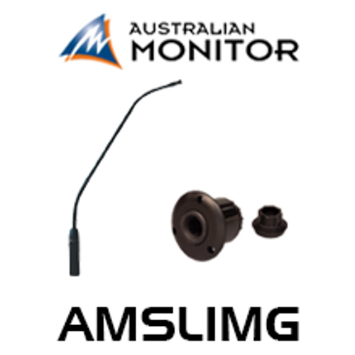 Australian Monitor AMSLIMG Electret Cardioid Gooseneck Microphone (3P XLR)