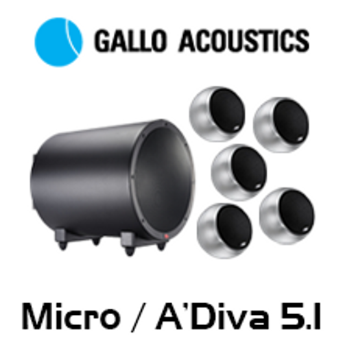 Gallo Acoustics Micro / A'Diva 5.1 Home Theatre System