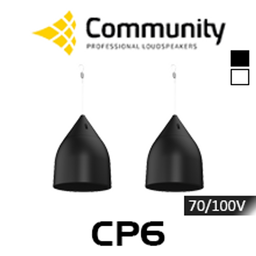 "Community CP6 6.5"" 70/100V Coaxial Pendant Speakers (Pair)"
