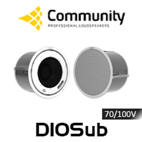 "Community D10Sub 10"" 70/100V High Output In-Ceiling Subwoofer (Pair)"
