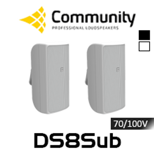 "Community DS8Sub 8"" 70/100V High Output Surface Mount Subwoofer (Pair)"