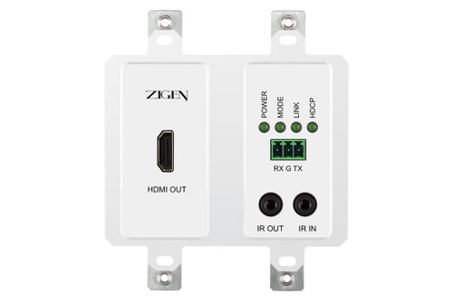 Zigen ZIG-POEWP-RX70 HDMI Over HDBaseT Wallplate Receiver (70m)