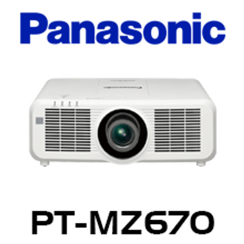 Panasonic PT-MZ670 WUXGA 6500 Lumens Digital Link Laser 3LCD Projector