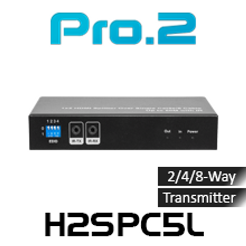 Pro.2 H2SPC5L 2/4/8-Way HDMI Splitter Transmitter Over Cat5 With IR (50m)