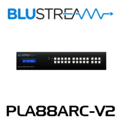 BluStream PLA88ARC-V2 8x8 4K UHD ARC Enabled HDBaseT Matrix (up to 40m)