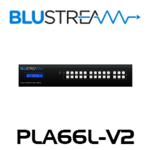 BluStream PLA66L-V2 6x6 4K UHD HDBaseT Matrix (up to 40m)